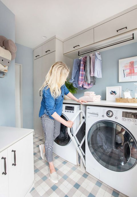 What are the major laundry room storage solutions that you can use for better maintenance?